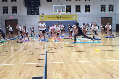Padua Soccer Takes on Yoga