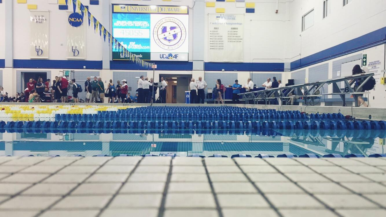 Finals for the girls swimming state championships were held at University of Delaware's Rawstrom Natatorium.