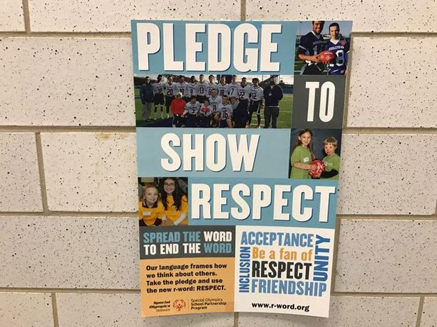 Blue Gold promote the campaign with posters around the school.