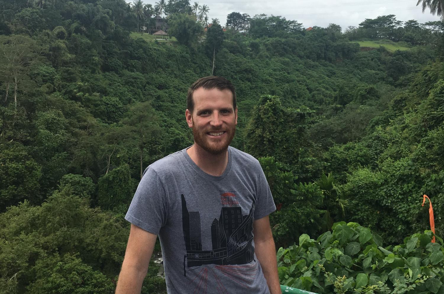 Mr. McAteer on a trip to Bali this past summer.