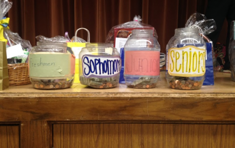 The Penny Wars jars out at lunch.