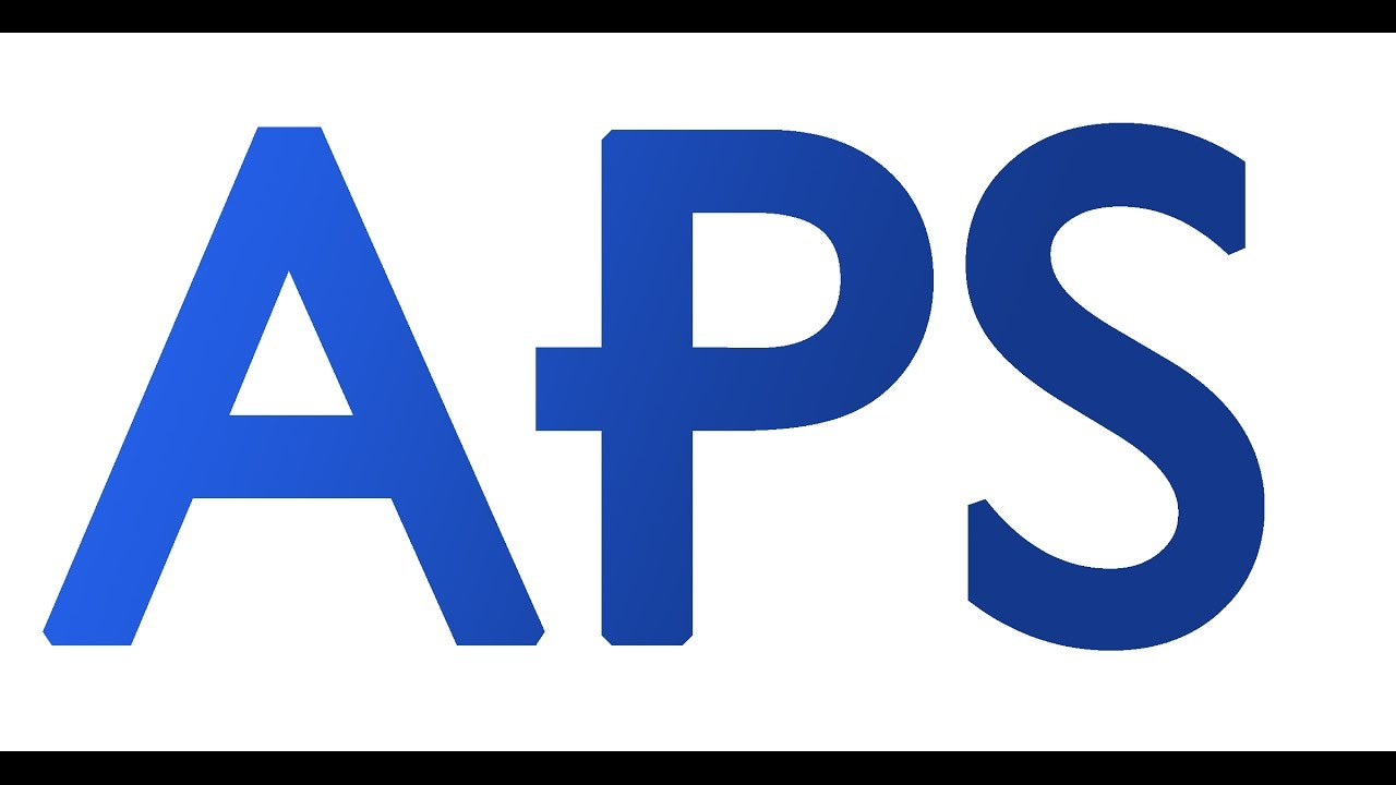 The logo for APS