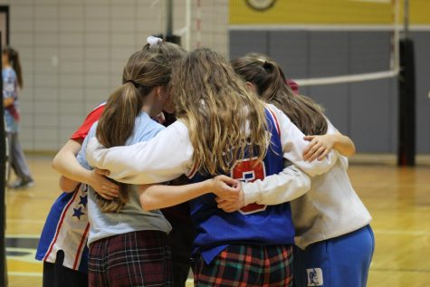 Senior Spirit Week started out with friends coming together to play against each other in a volleyball tournament.