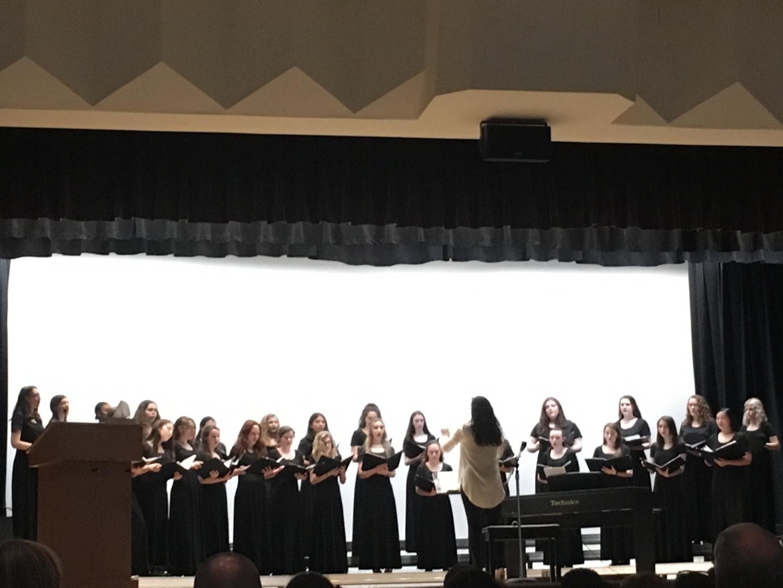 The Padua Women's Chorus opened this year's Evening of the Arts.