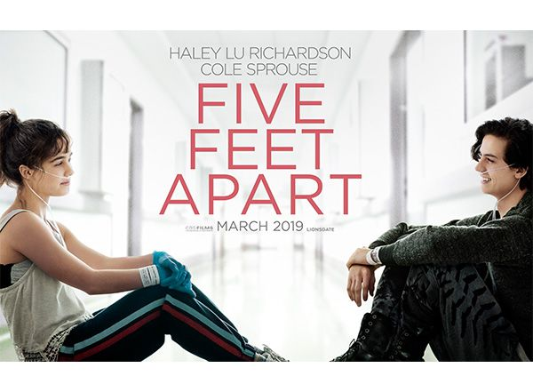 Five Feet Apart starring Haley Lu Richardson and Cole Sprouse