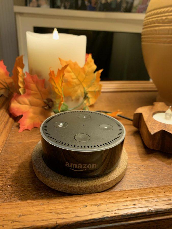 The Amazon Alexa speaker.