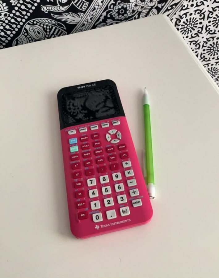 A calculator that Amanda often uses while tutoring her students. A calculator is possibly one of the most important parts of tutoring.