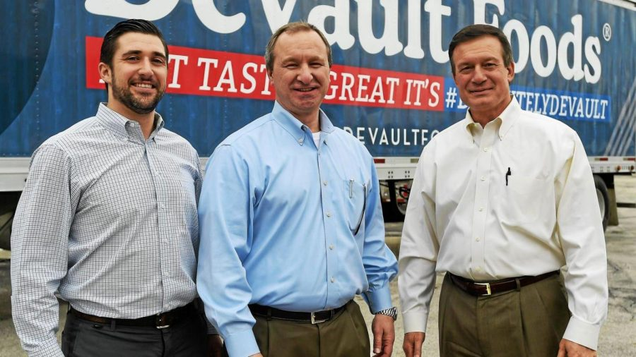 Michael Zacco (far right) works for Canopy Food Group.