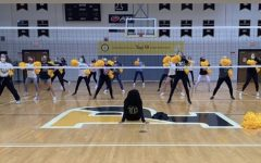 The dance team practices in Padua's Gymnasium on Saturday, October 24th.