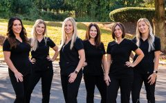 KP's employees pose for a picture. They are, from left, Melissa Gioaa, Brianna Parnes, Kimberly Costalas, Jackie Mraz, and Alicia Leonardo.