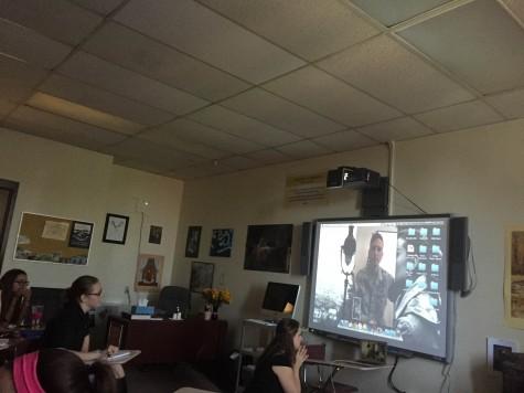 Padua Students Interview Air Force Member