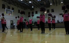 Padua's Dance Team performs during a spirit assembly.