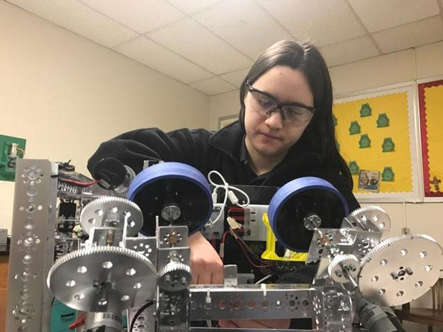Kalani P. '17 hopes to enter the field of mechanical engineering.