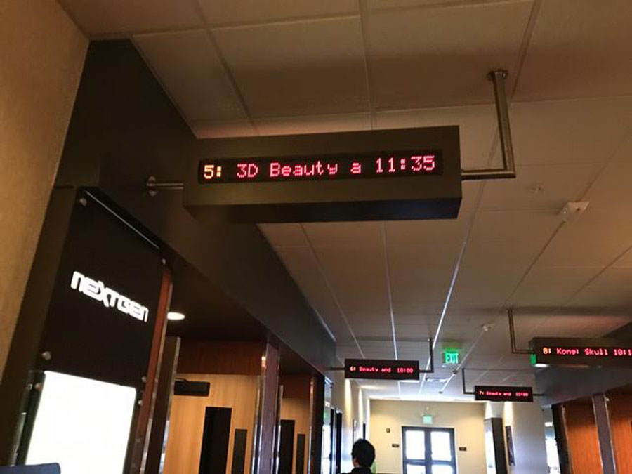 Beauty and the Beast was shown to a full theater this weekend.