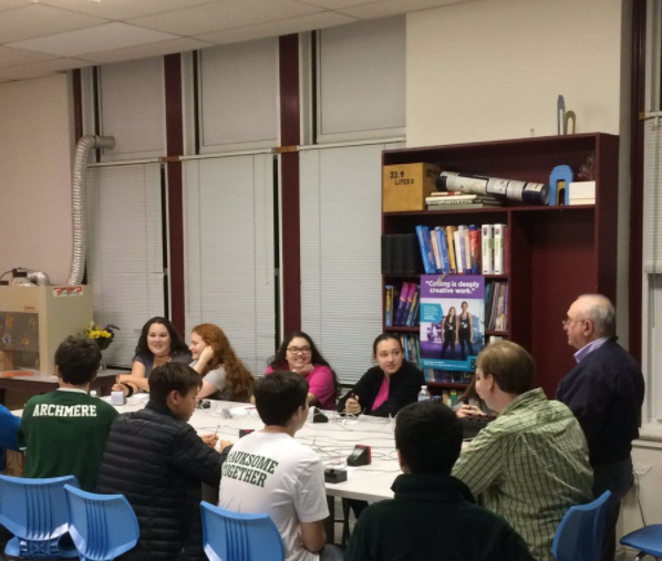 Padua students compete against Archmere in the Academic Bowl meet on October 12th.
