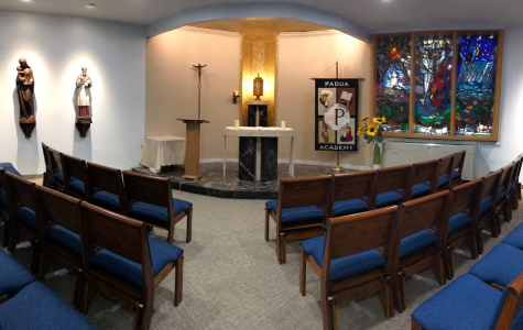 The newly remodeled chapel includes new paint, brighter lighting, and new seating.