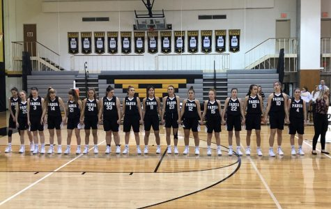 Padua's Varsity Basketball Team Taking the Win Against Tatnall