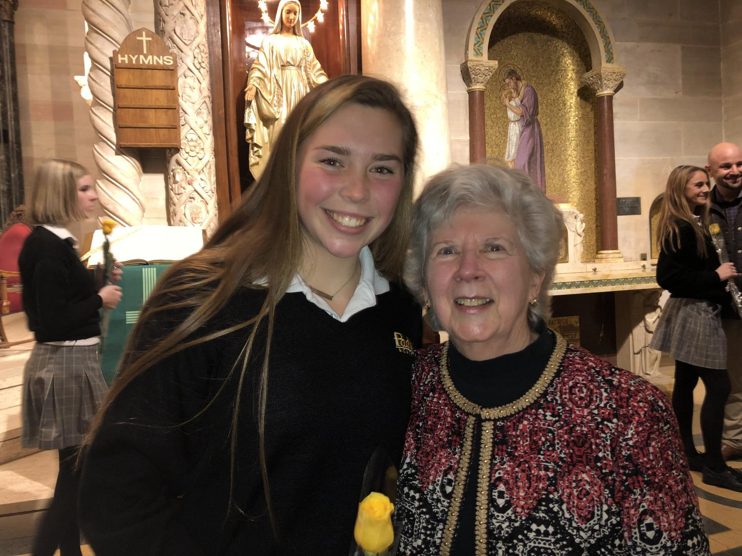 Emma Jo and her grandmother, Mary, at the Junior Ring Ceremony.