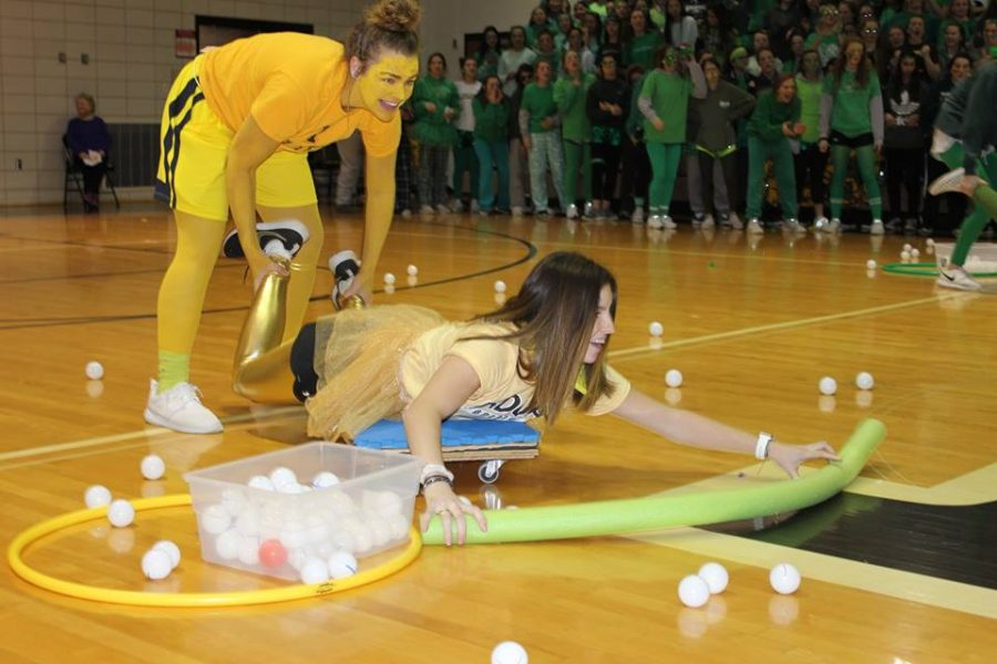 Students and teachers competed in games to win a dress down day.