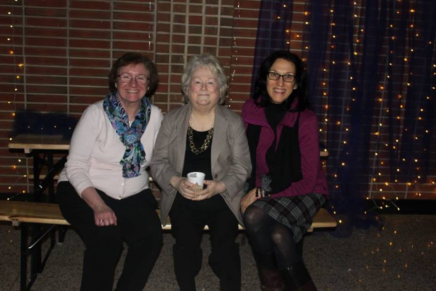 From left to right, Dr. McClory, Mrs. Mann, and Mrs. Manelski at Winter Ball.