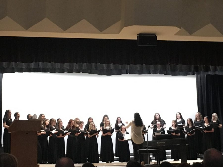 The Padua Women's Chorus opened this year's Evening of the Arts.