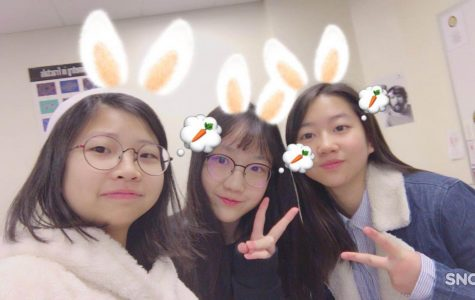 Lin, Shi, and Zheng together. The three students each came from China to study at Padua.