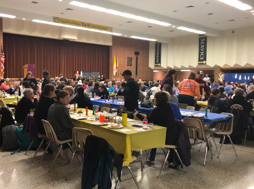 Community+members+here+are+enjoying+themselves+at+Bingo+Night.+Blue+Gold+events+are+successful+due+to+the+participation+of+students+and+community+members.
