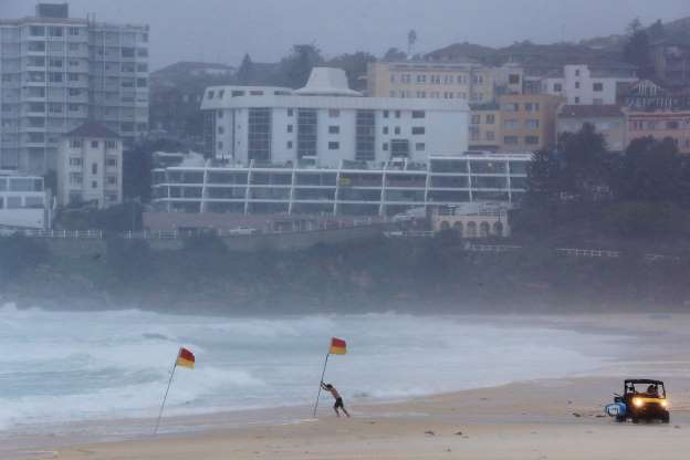 What+Sydney+looks+like+during+the+storm.