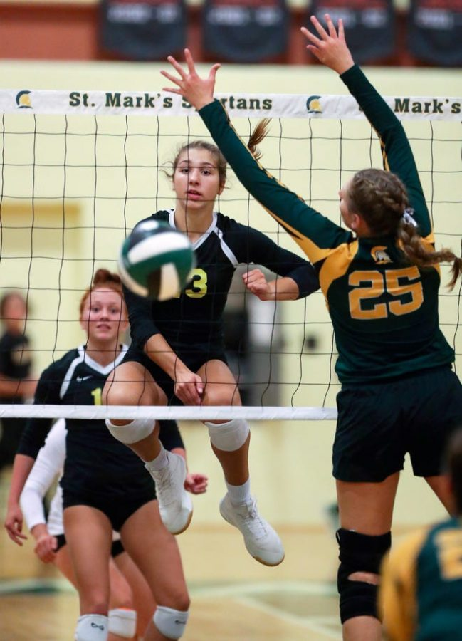 Mackenzie Sobczyk, number 13, exhibits her skills in a game against St. Marks's.