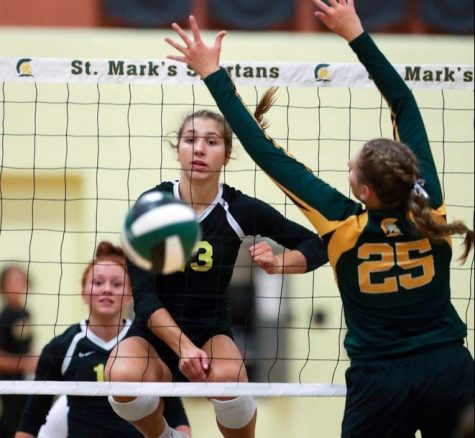 Mackenzie Sobczyk, number 13, exhibits her skills in a game against St. Marks