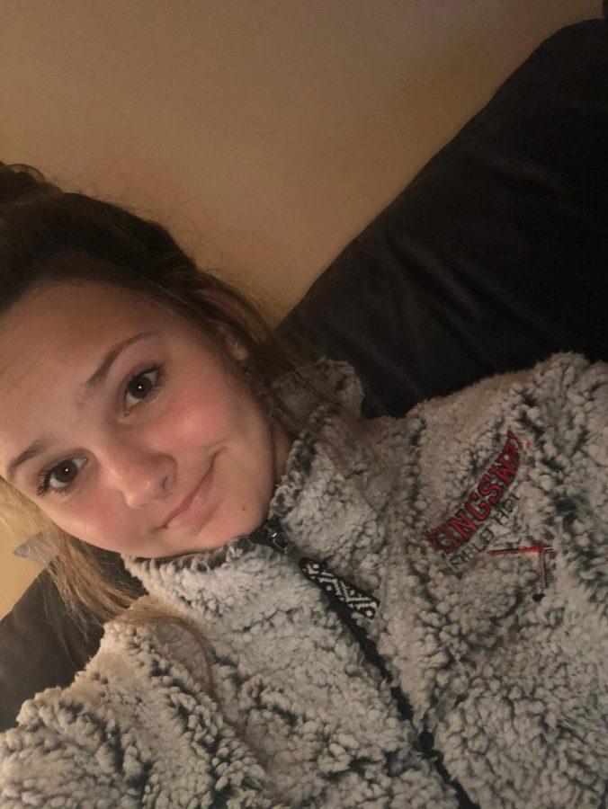Rhegan Henry  a student at Kingsway Regional Highschool in her Kingsway Field Hockey jacket.
