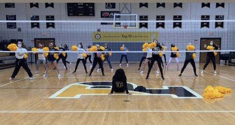 The dance team practices in Paduas Gymnasium on Saturday, October 24th.