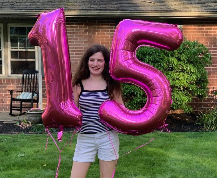 Heinlein on her 15th birthday.