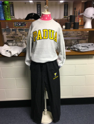 This is an image of a display inside of the Padua School Store.