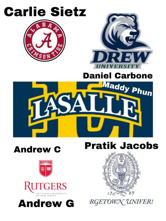 Here are the colleges the seniors involved in this article are attending next year!